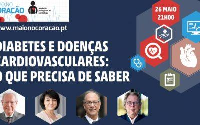 Maio no Coração: sessão sobre diabetes e doenças cardiovasculares.
